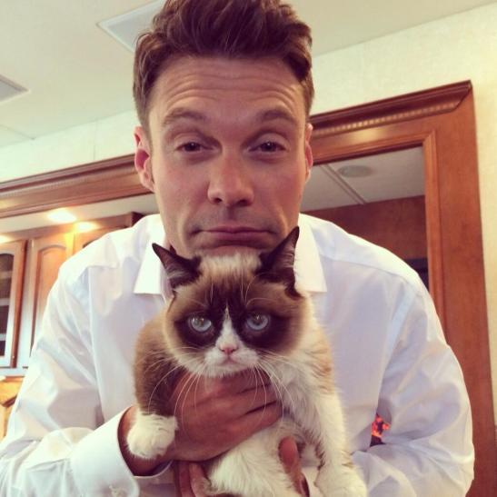 post-42097-Ryan-Seacrest-with-Grumpy-Cat-lVp4